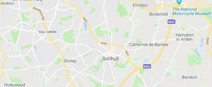 Image of Solihull on Google Maps
