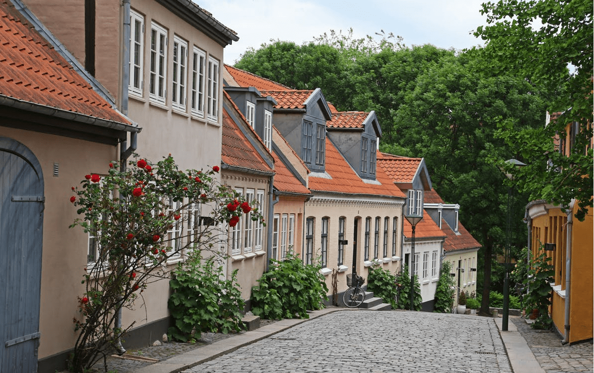 Image of houses on a street.