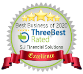 SJ Financial Three Best Rated Badge